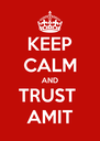 KEEP CALM AND TRUST  AMIT - Personalised Poster A4 size
