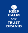 KEEP CALM AND TRUST DRAVID - Personalised Poster A4 size