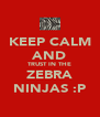 KEEP CALM AND TRUST IN THE ZEBRA NINJAS :P - Personalised Poster A4 size