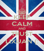 KEEP CALM AND TRUST LIXUAN (: - Personalised Poster A4 size