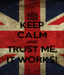 KEEP CALM AND TRUST ME, IT WORKS! - Personalised Poster A4 size