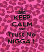KEEP CALM AND Trust No NIGGA !  - Personalised Poster A4 size