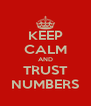 KEEP CALM AND TRUST NUMBERS - Personalised Poster A4 size