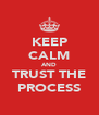 KEEP CALM AND TRUST THE PROCESS - Personalised Poster A4 size