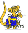 KEEP CALM AND TRUST THE RATS - Personalised Poster A4 size