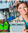 KEEP CALM AND TRUST YOUR ERGONOMIST - Personalised Poster A4 size