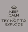 KEEP CALM and TRY NOT TO EXPLODE - Personalised Poster A4 size