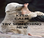 KEEP CALM AND TRY SOMETHING NEW - Personalised Poster A4 size