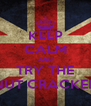 KEEP CALM AND TRY THE NUT CRACKER - Personalised Poster A4 size