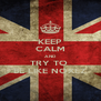 KEEP CALM AND TRY TO  BE LIKE NOXEZ - Personalised Poster A4 size