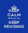 KEEP CALM AND (try to) KEEP REVISING - Personalised Poster A4 size