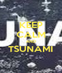 KEEP CALM AND TSUNAMI  - Personalised Poster A4 size