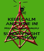 KEEP CALM AND TUNE IN! MID-CHESHIRE RADIO SUNDAY NIGHT ROCK SHOW - Personalised Poster A4 size