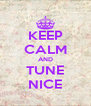 KEEP CALM AND TUNE NICE - Personalised Poster A4 size