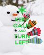 KEEP CALM AND TURN LEFT - Personalised Poster A4 size