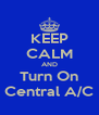 KEEP CALM AND Turn On Central A/C - Personalised Poster A4 size