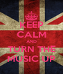 KEEP CALM AND TURN THE MUSIC UP - Personalised Poster A4 size