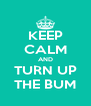 KEEP CALM AND TURN UP THE BUM - Personalised Poster A4 size