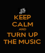 KEEP CALM AND TURN UP THE MUSIC - Personalised Poster A4 size