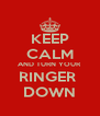 KEEP CALM AND TURN YOUR RINGER  DOWN - Personalised Poster A4 size