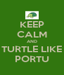 KEEP CALM AND TURTLE LIKE PORTU - Personalised Poster A4 size