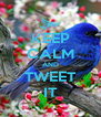 KEEP CALM AND TWEET IT - Personalised Poster A4 size