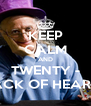 KEEP CALM AND TWENTY - JACK OF HEARTS - Personalised Poster A4 size