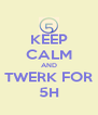 KEEP CALM AND TWERK FOR 5H - Personalised Poster A4 size