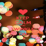 KEEP CALM AND TWINKLE ON - Personalised Poster A4 size