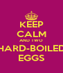 KEEP CALM AND TWO HARD-BOILED EGGS - Personalised Poster A4 size