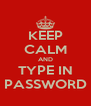 KEEP CALM AND TYPE IN PASSWORD - Personalised Poster A4 size