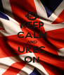 KEEP CALM AND UKEC ON - Personalised Poster A4 size