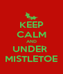 KEEP CALM AND UNDER  MISTLETOE - Personalised Poster A4 size