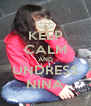 KEEP CALM AND UNDRESS NINA - Personalised Poster A4 size