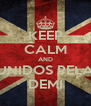 KEEP CALM AND UNIDOS PELA DEMI - Personalised Poster A4 size