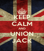 KEEP CALM AND UNION JACK - Personalised Poster A4 size