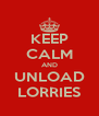 KEEP CALM AND UNLOAD LORRIES - Personalised Poster A4 size