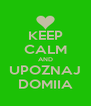 KEEP CALM AND UPOZNAJ DOMIIA - Personalised Poster A4 size