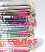 KEEP CALM AND USE FOUTAS - Personalised Poster A4 size