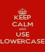 KEEP CALM AND USE LOWERCASE - Personalised Poster A4 size