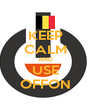 KEEP CALM AND USE OFFON - Personalised Poster A4 size