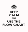 KEEP CALM AND USE THE FLOW CHART - Personalised Poster A4 size