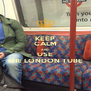 KEEP CALM AND USE THE LONDON TUBE - Personalised Poster A4 size
