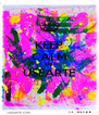KEEP CALM AND USEARTE  - Personalised Poster A4 size