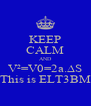 KEEP CALM AND V²=V0=2a.∆S This is ELT3BM - Personalised Poster A4 size