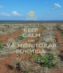 KEEP CALM AND VÁ MONITORAR FORMIGA - Personalised Poster A4 size