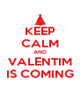 KEEP CALM AND VALENTIM IS COMING - Personalised Poster A4 size