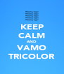 KEEP CALM AND VAMO TRICOLOR - Personalised Poster A4 size