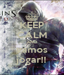 KEEP CALM AND vamos jogar!! - Personalised Poster A4 size