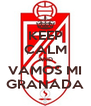 KEEP CALM AND VAMOS MI GRANADA - Personalised Poster A4 size